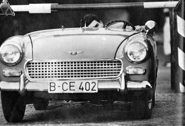 Heinz Meixner defects from East Germany by driving through Checkpoint Charlie, 1963